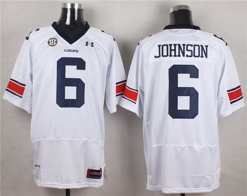 Auburn Tigers 6 Jeremy Johnson White NCAA Jersey