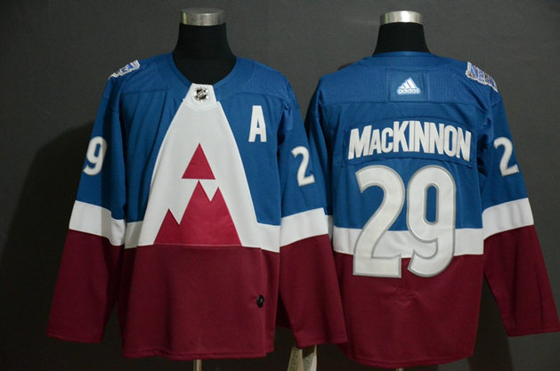 Avalanche 29 Nathan MacKinnon Blue Red 2020 NHL Stadium Series Adidas Jersey