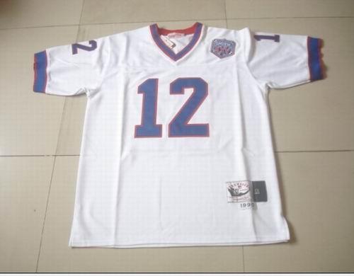 BUFFALO BILLs #12 JIM KELLY white mitchellandness jerseys