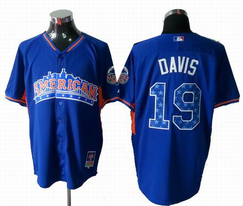 Baltimore Orioles Orioles #19 Chris Davis American League 2013 All Star blue Jersey
