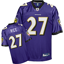 Baltimore Ravens #27 Ray Rice Team Color purple Jersey