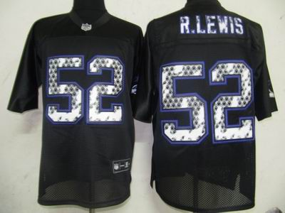 Baltimore Ravens #52 Ray Lewis Black United Sideline Jerseys