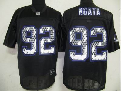 Baltimore Ravens #92 Haloti Ngata Black United Sideline Jerseys