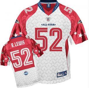 Baltimore Ravens 52# Ray Lewis 2010 Pro Bowl AFC