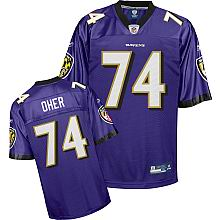 Baltimore Ravens Jersey #74 Michael Oher Team purple color