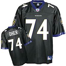 Baltimore Ravens Jersey #74 Michael Oher black color
