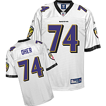 Baltimore Ravens Jersey #74 Michael Oher white color
