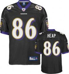 Baltimore Ravens Jersey #86 Todd Heap Jersey black