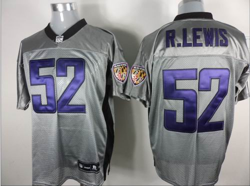 Batlimore Ravens #52 Ray Lewis Gray shadow jerseys