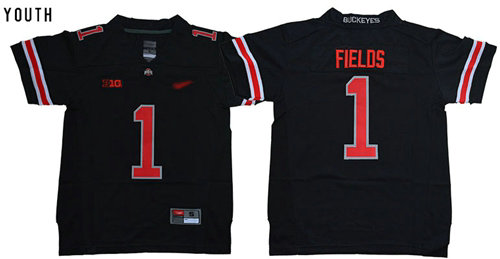 Black(Red No.) Limited Stitched Youth College Jersey
