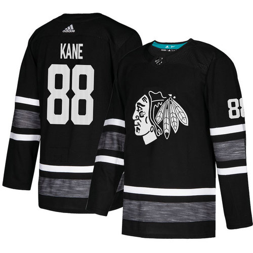 Blackhawks #88 Patrick Kane Black Authentic 2019 All-Star Stitched Hockey Jersey