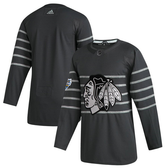 Blackhawks Blank Gray 2020 NHL All-Star Game Adidas Jersey