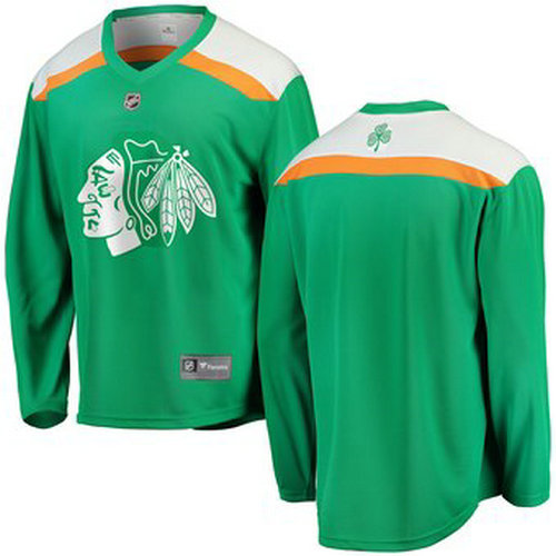 Blackhawks Green 2019 St. Patrick's Day Adidas Jersey