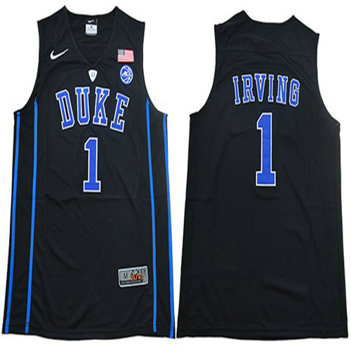 Blue Devils #1 Kyrie Irving Black Basketball V Neck Stitched College Jersey