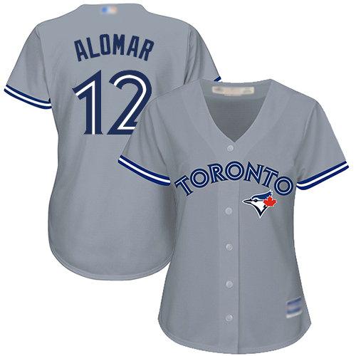 Blue Jays #12 Roberto Alomar Grey Road Women's Stitched Baseball Jersey