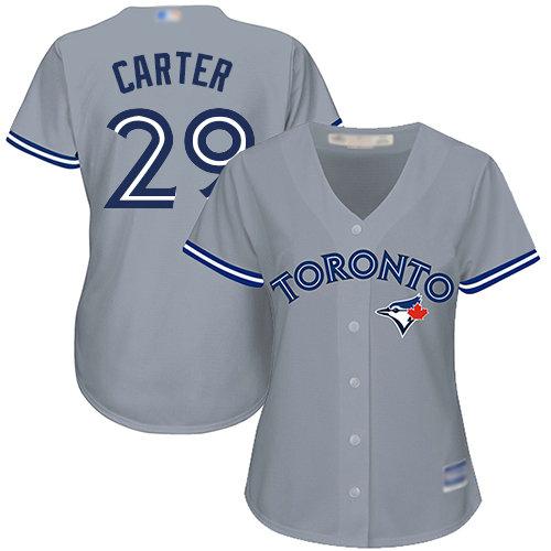 Blue Jays #29 Joe Carter Grey Road Women's Stitched Baseball Jersey