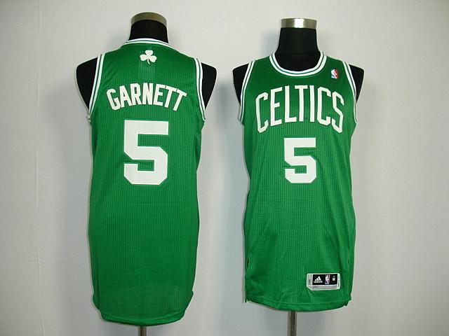 ... White Final Patch Jersey Boston Celtics 5 Kevin Garnett New Revolution  30 green Jersey ... bd1e86a63