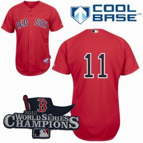 Boston Red Sox 11 Clay Buchholz Home red cool base Jerseys 2013 World Series Champions ptach