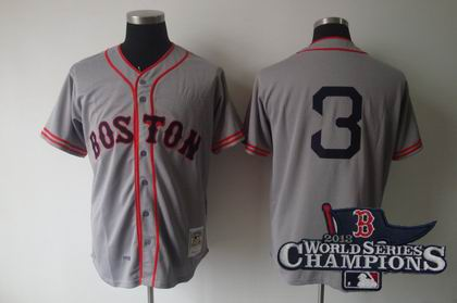 Boston Red Sox 1936 Jimmie Foxx Road 3 Grey Jersey 2013 World Series Champions ptach