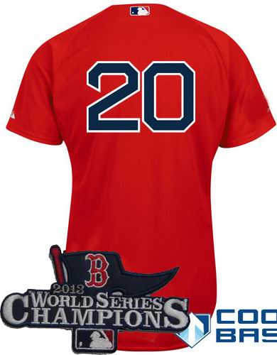 Boston Red Sox 20# Kevin Youkilis red Cool Base Jersey 2013 World Series Champions ptach