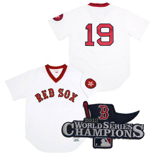 Boston Red Sox Mitchell & Ness Jerseys #19 Fred Lynn jersey 2013 World Series Champions ptach