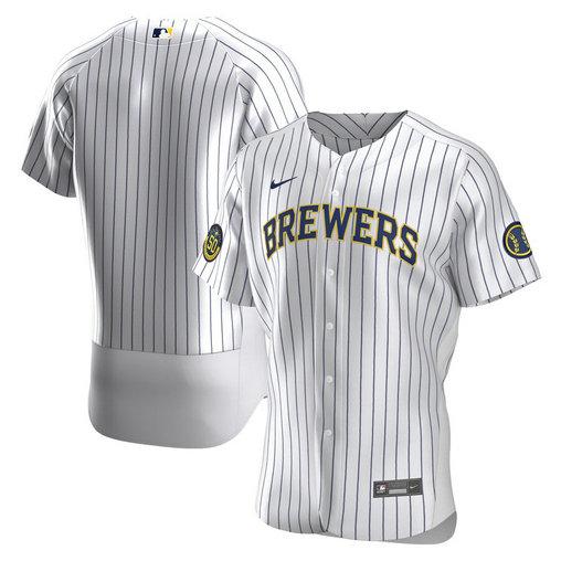 Brewers Blank White Nike 2020 Flexbase Jersey