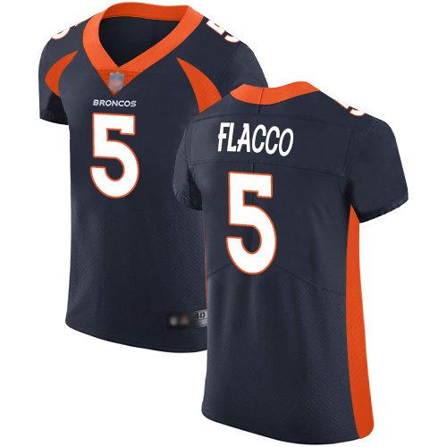 Broncos #5 Joe Flacco Navy Blue Alternate Men's Stitched Football Vapor Untouchable Elite Jersey