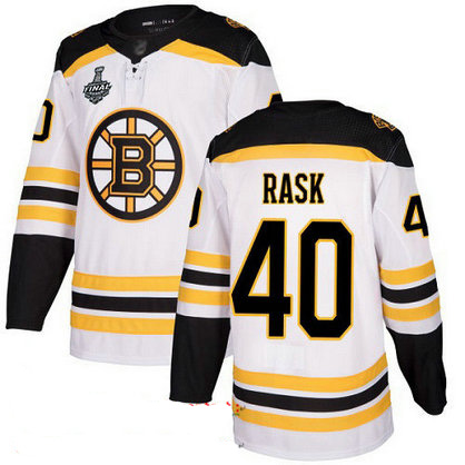Bruins #40 Tuukka Rask White Road Authentic Stanley Cup Final Bound Stitched Hockey Jersey