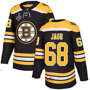 Bruins #68 Jaromir Jagr Black Home Authentic Stanley Cup Final Bound Stitched Hockey Jersey