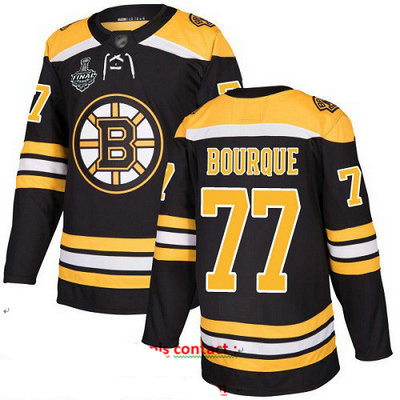 Bruins #77 Ray Bourque Black Home Authentic Stanley Cup Final Bound Stitched Hockey Jersey