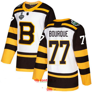 Bruins #77 Ray Bourque White Authentic 2019 Winter Classic Stanley Cup Final Bound Stitched Hockey Jersey