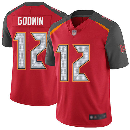 Buccaneers #12 Chris Godwin Red Team Color Youth Stitched Football Vapor Untouchable Limited Jersey