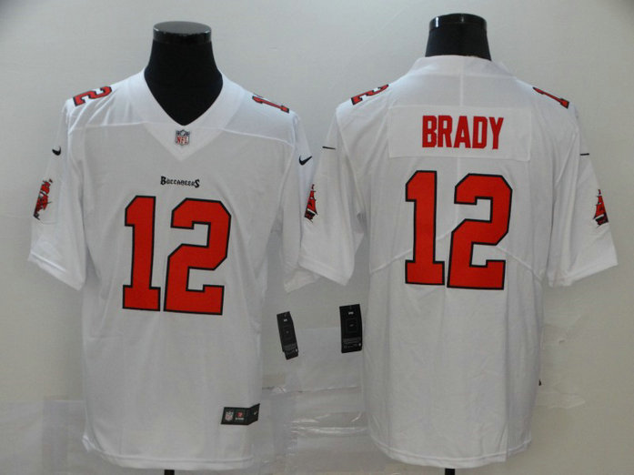 Buccaneers 12 Tom Brady White Vapor Untouchable Limited Jersey2