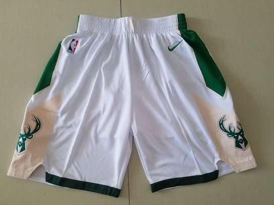 Bucks White Nike Shorts