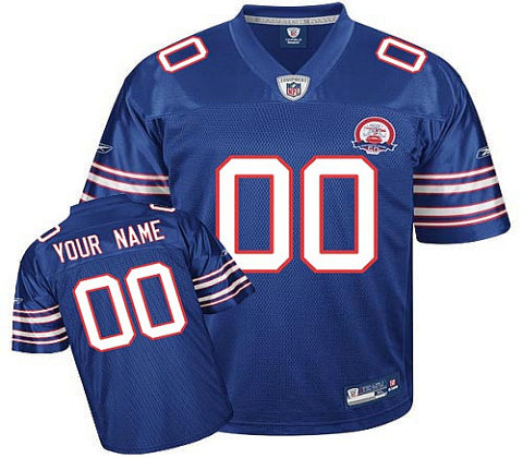 Buffalo Bills AFL 50th Anniversary Customized Team Color Jerseys