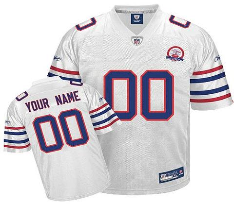 Buffalo Bills AFL 50th Anniversary Customized white Jerseys