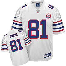 Buffalo Bills AFL 50th Anniversary Terrell Owens #81 white Jersey