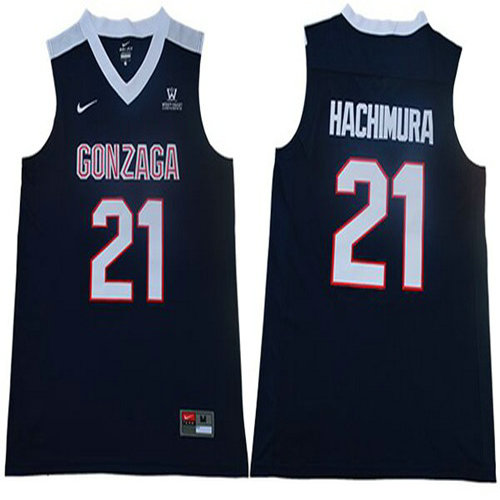 Bulldogs #21 Rui Hachimura Navy Blue Basketball Stitched College Jersey