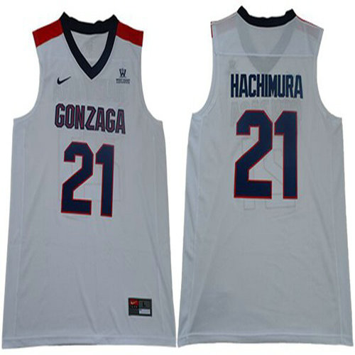 Bulldogs #21 Rui Hachimura White Basketball Stitched College Jersey