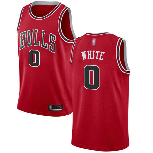 Bulls #0 Coby White Red Basketball Swingman Icon Edition Jersey