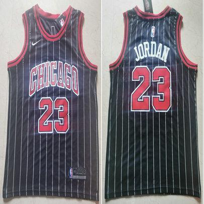 Bulls 23 Michael Jordan Black Nike Swingman Jersey