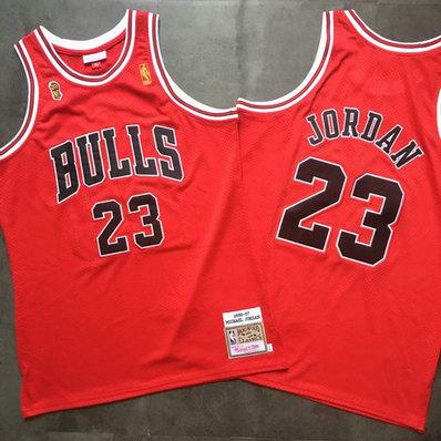 Bulls 23 Michael Jordan Red 1996-97 Hardwood Classics Mesh Jersey