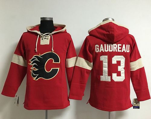 Calgary Flames 13 Johnny Gaudreau Red Pullover NHL Hoodie
