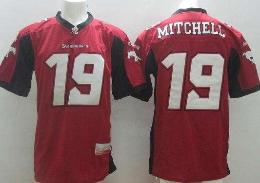 Calgary Stampeders 19 Bo Levi Mitchell Red Home CFL Jersey