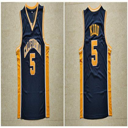 California Golden Bears 5 Jason Kidd Navy College Basketball Jersey