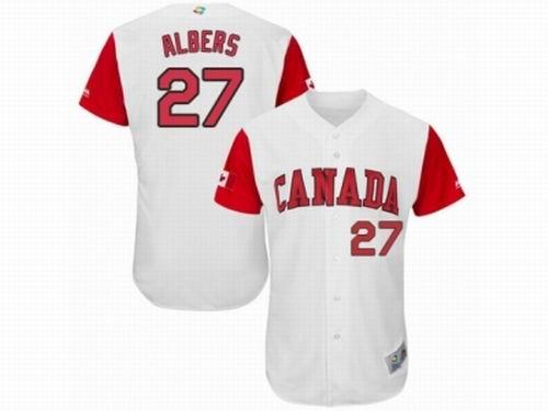 Canada Baseball Majestic #27 Andrew Albers White 2017 World Baseball Classic Team Jersey