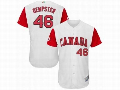Canada Baseball Majestic #46 Ryan Dempster White 2017 World Baseball Classic Team Jersey