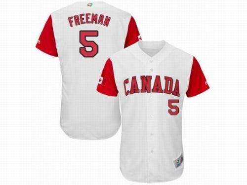 Canada Baseball Majestic #5 Freddie Freeman White 2017 World Baseball Classic Team Jersey