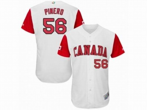 Canada Baseball Majestic #56 Daniel Pinero White 2017 World Baseball Classic Team Jersey