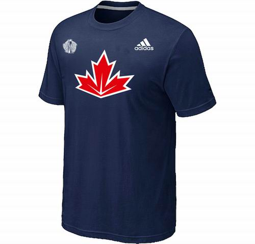 Canada Hockey  D.Blue 2016 World Cup of Hockey Primary Logo Ultimate climalite T-Shirt